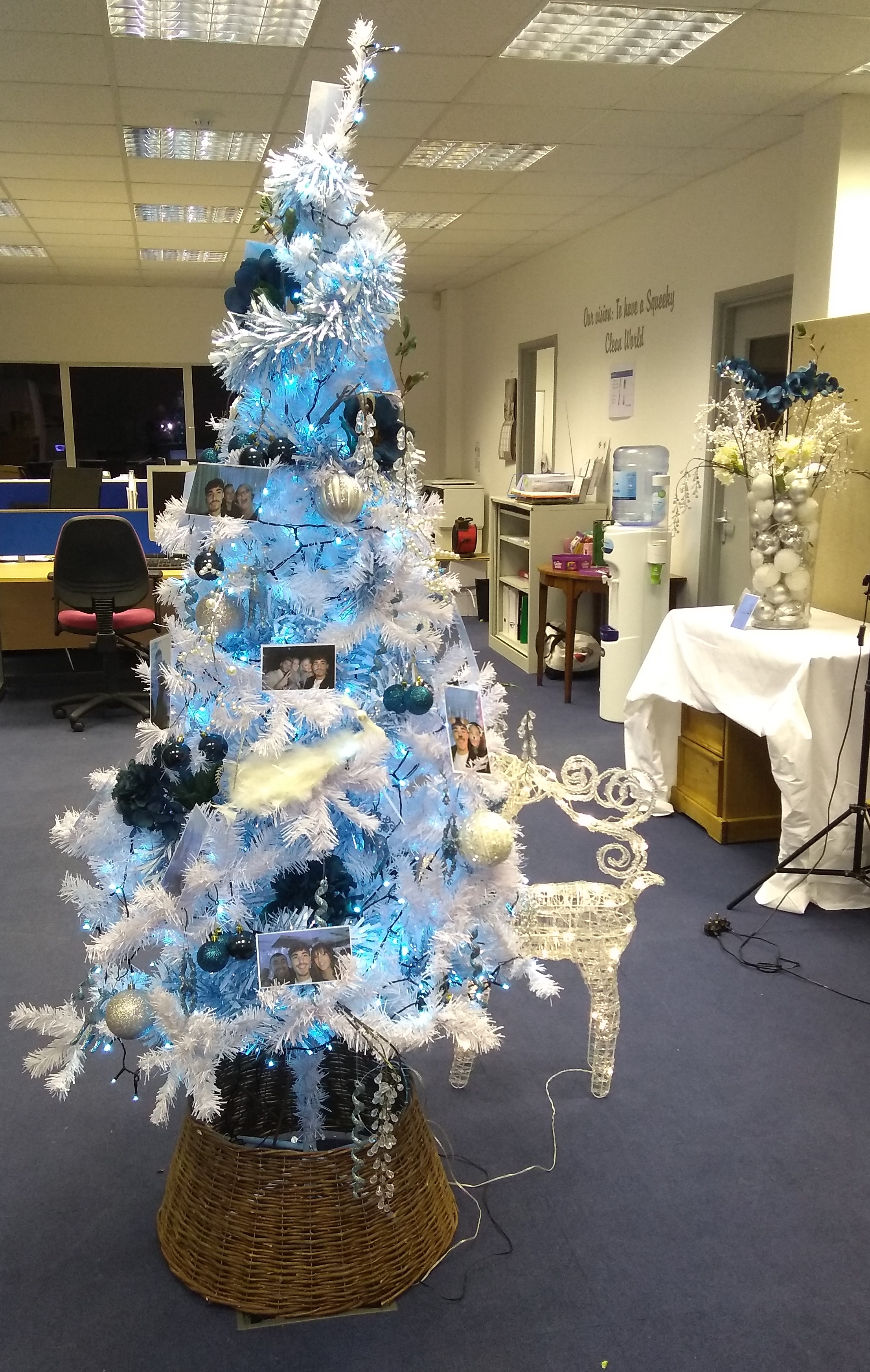 Christamas tree in squeeky offices